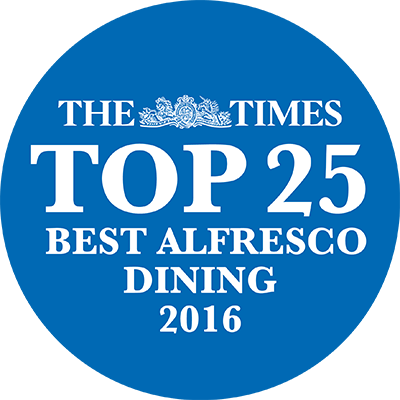 The Times top 25 best alfresco dining 2016